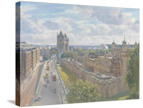 Tower Bridge and the Tower of London, 2010-Julian Barrow-Stretched Canvas Print