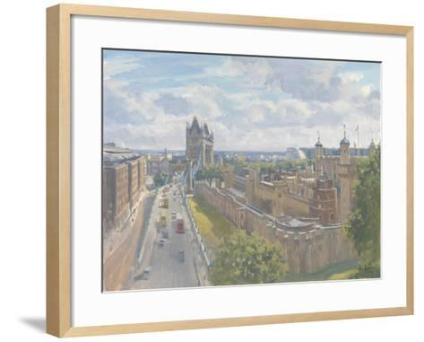 Tower Bridge and the Tower of London, 2010-Julian Barrow-Framed Art Print