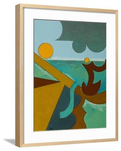Angler in Combat with a Big Fish, 2009-Jan Groneberg-Framed Art Print