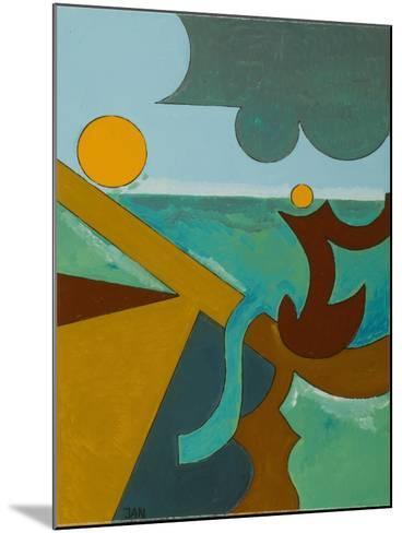 Angler in Combat with a Big Fish, 2009-Jan Groneberg-Mounted Giclee Print