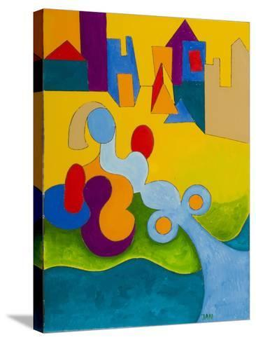 Sunbathing at the Edge of the Town, 2009-Jan Groneberg-Stretched Canvas Print