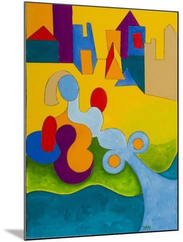 Sunbathing at the Edge of the Town, 2009-Jan Groneberg-Mounted Giclee Print