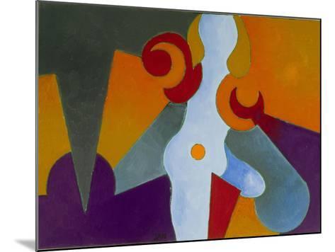 Blue Pin-Up Girl, 2009-Jan Groneberg-Mounted Giclee Print