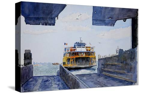 Staten Island Ferry Docking, 2010-Anthony Butera-Stretched Canvas Print