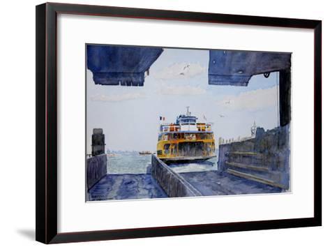 Staten Island Ferry Docking, 2010-Anthony Butera-Framed Art Print