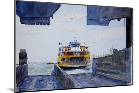 Staten Island Ferry Docking, 2010-Anthony Butera-Mounted Giclee Print