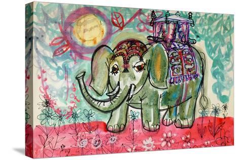 Elephant-Brenda Brin Booker-Stretched Canvas Print