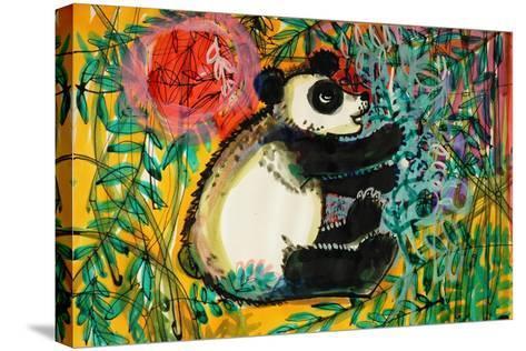 Panda-Brenda Brin Booker-Stretched Canvas Print