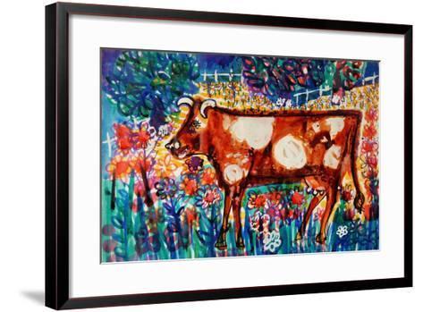 Cow-Brenda Brin Booker-Framed Art Print