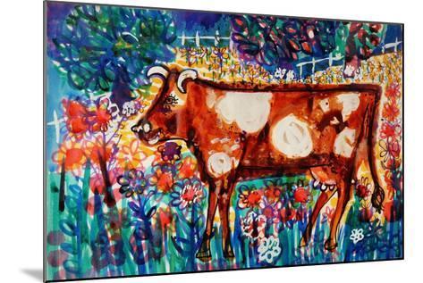 Cow-Brenda Brin Booker-Mounted Giclee Print