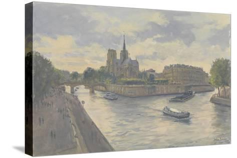 Ile De La Cite, 2010-Julian Barrow-Stretched Canvas Print