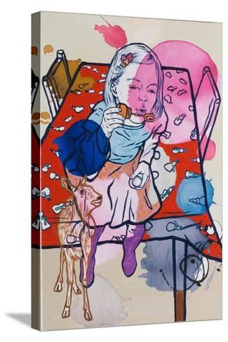 Deerie's Dream, 2009-Nora Soos-Stretched Canvas Print