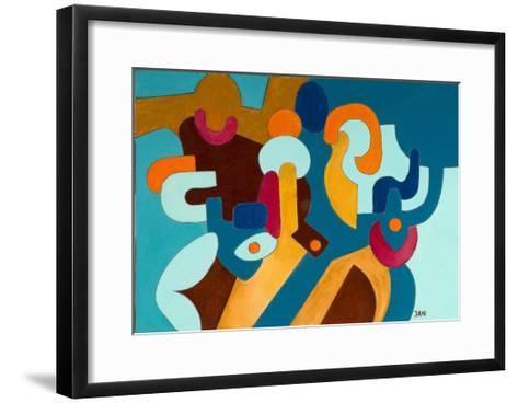 Aggressive Husband and His Shy Wife, 2009-Jan Groneberg-Framed Art Print