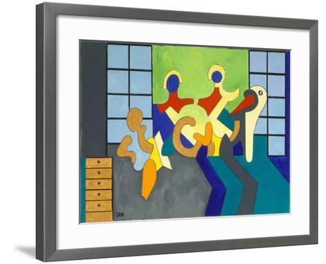 The Stork Is the Witness, 2009-Jan Groneberg-Framed Art Print