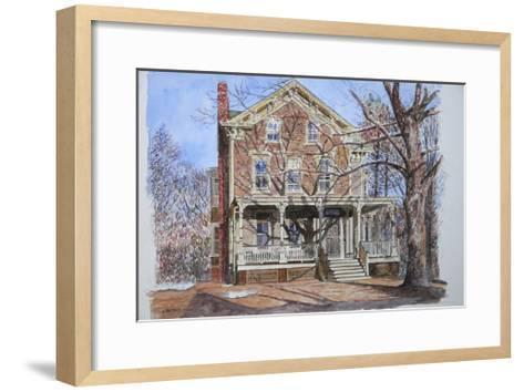 Historic Home, Westfield, Nj, 2010-Anthony Butera-Framed Art Print