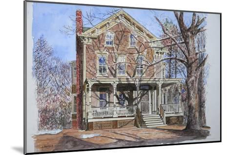 Historic Home, Westfield, Nj, 2010-Anthony Butera-Mounted Giclee Print