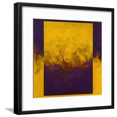 Damascene Moment: Blue and Gold, 2010-Mathew Clum-Framed Art Print