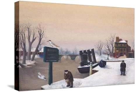 Richmond Riverside under Snow, 1947-Bettina Shaw-Lawrence-Stretched Canvas Print