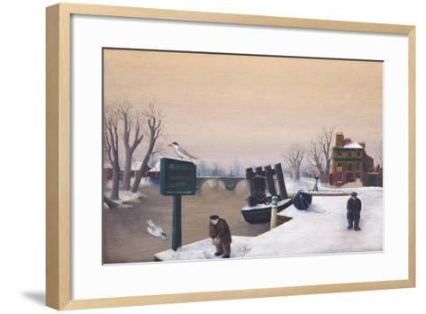 Richmond Riverside under Snow, 1947-Bettina Shaw-Lawrence-Framed Art Print