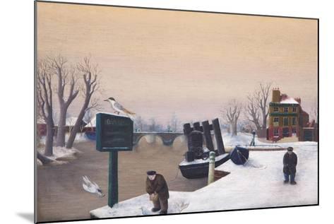 Richmond Riverside under Snow, 1947-Bettina Shaw-Lawrence-Mounted Giclee Print