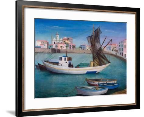 Fishing Boats in Porto San Stefano, 1976-Bettina Shaw-Lawrence-Framed Art Print
