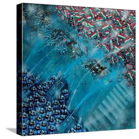 Baricade, 2006-Tamas Galambos-Stretched Canvas Print