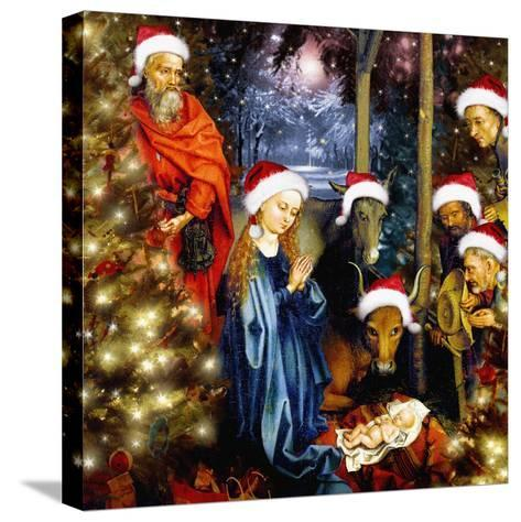 Christmas in the Stable, 2008-Trygve Skogrand-Stretched Canvas Print