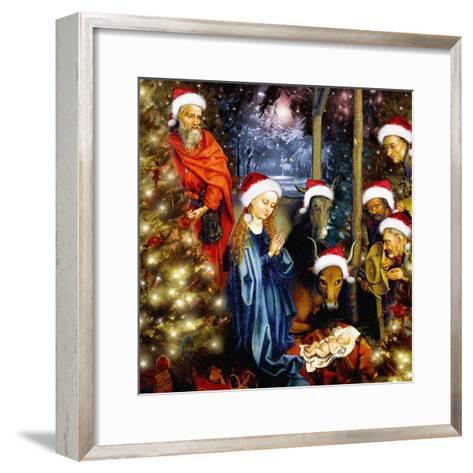 Christmas in the Stable, 2008-Trygve Skogrand-Framed Art Print