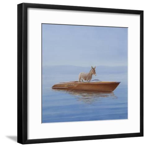 Donkey in a Riva, 2010-Lincoln Seligman-Framed Art Print