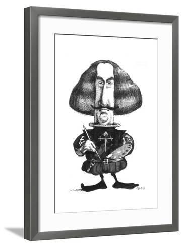 Velazquez-Gary Brown-Framed Art Print