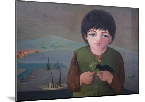 Child with Mimosa at Porto S.Stefano, 1975-Bettina Shaw-Lawrence-Mounted Giclee Print