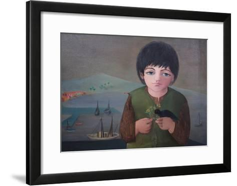 Child with Mimosa at Porto S.Stefano, 1975-Bettina Shaw-Lawrence-Framed Art Print