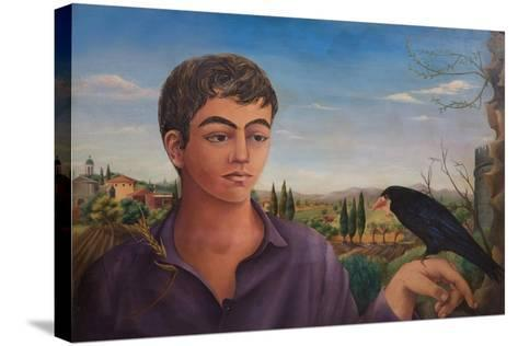 Boy with Raven, 1962-Bettina Shaw-Lawrence-Stretched Canvas Print