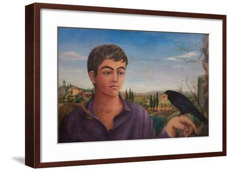 Boy with Raven, 1962-Bettina Shaw-Lawrence-Framed Art Print