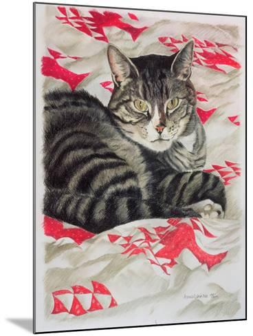Cat on Quilt-Anne Robinson-Mounted Giclee Print