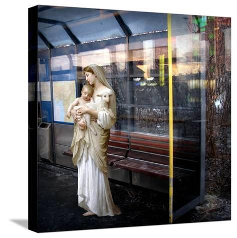 Madonna of the Bus-Stop, 2008-Trygve Skogrand-Stretched Canvas Print