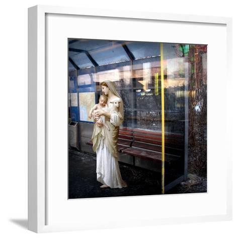 Madonna of the Bus-Stop, 2008-Trygve Skogrand-Framed Art Print