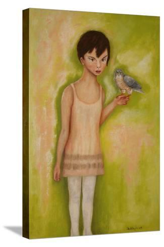 Trust-Girl with a Sparrow Hawk, 2010-Stevie Taylor-Stretched Canvas Print