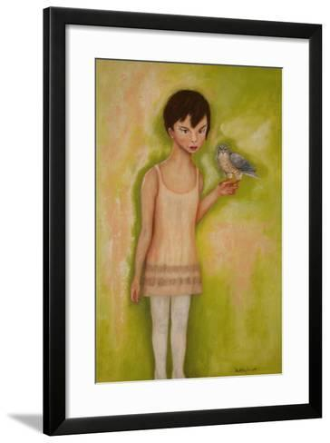Trust-Girl with a Sparrow Hawk, 2010-Stevie Taylor-Framed Art Print