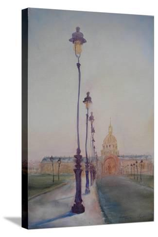 Lamp Post in Front of Dome Church, 2010-Antonia Myatt-Stretched Canvas Print