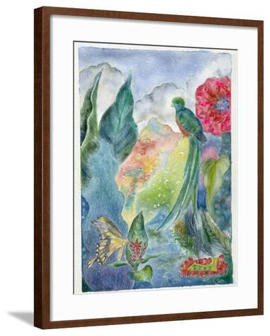Cloud Forest with Swallowtail Butterfly, 2010-Louise Belanger-Framed Art Print