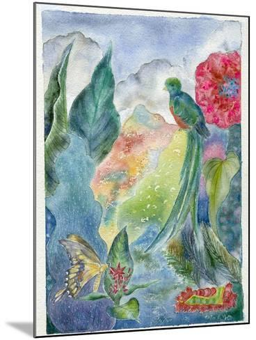 Cloud Forest with Swallowtail Butterfly, 2010-Louise Belanger-Mounted Giclee Print