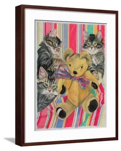 Kittens and Teddy-Anne Robinson-Framed Art Print