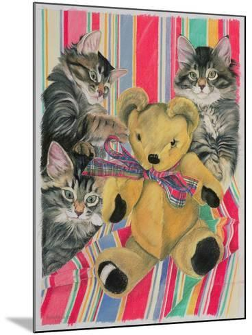 Kittens and Teddy-Anne Robinson-Mounted Giclee Print