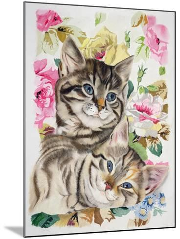 Two Kittens-Anne Robinson-Mounted Giclee Print