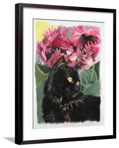 Black Tulips-Anne Robinson-Framed Art Print