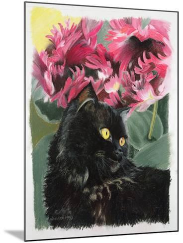 Black Tulips-Anne Robinson-Mounted Giclee Print