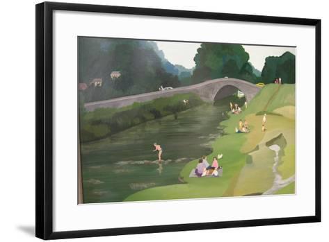 Riverside Picnic, 1989-Maggie Rowe-Framed Art Print