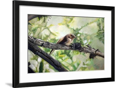 House Wren, the Harmonious Singing, 2010-Cruz Jurado Traverso-Framed Art Print