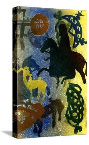 Pictish Horsemen-Gloria Wallington-Stretched Canvas Print